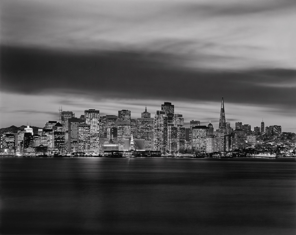 Black and white photograph San Francisco from Treasure Island, San Francisco, California, 2000