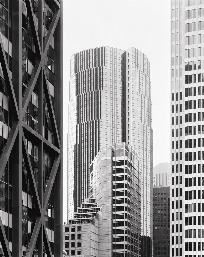 Black and white photograph of Maritime Plaza, San Francisco, California, 2010