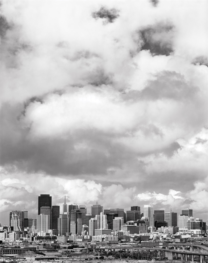 Black and white photograph of Downtown from Potrero Hill, San Francisco, California, 2003