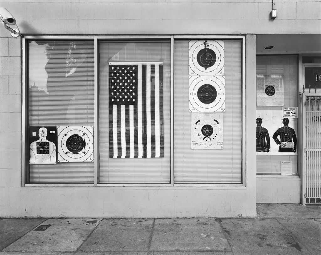 Black and white photograph of Franklin and Fell Streets, San Francisco, California, 2012