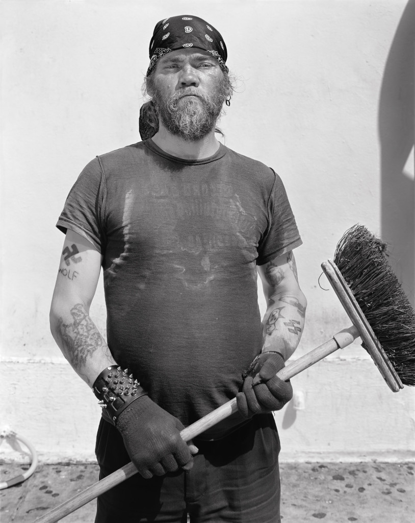 Black and white photograph of Handyman, Mission Street and Annie Street, San Francisco, California, 2008