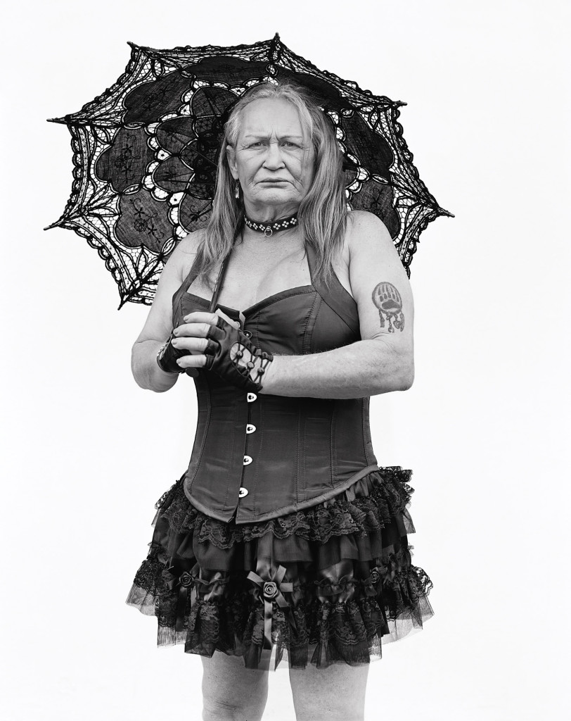 Black and white photograph of Nicole, Folsom Street and 9th Street, San Francisco, California, 2012